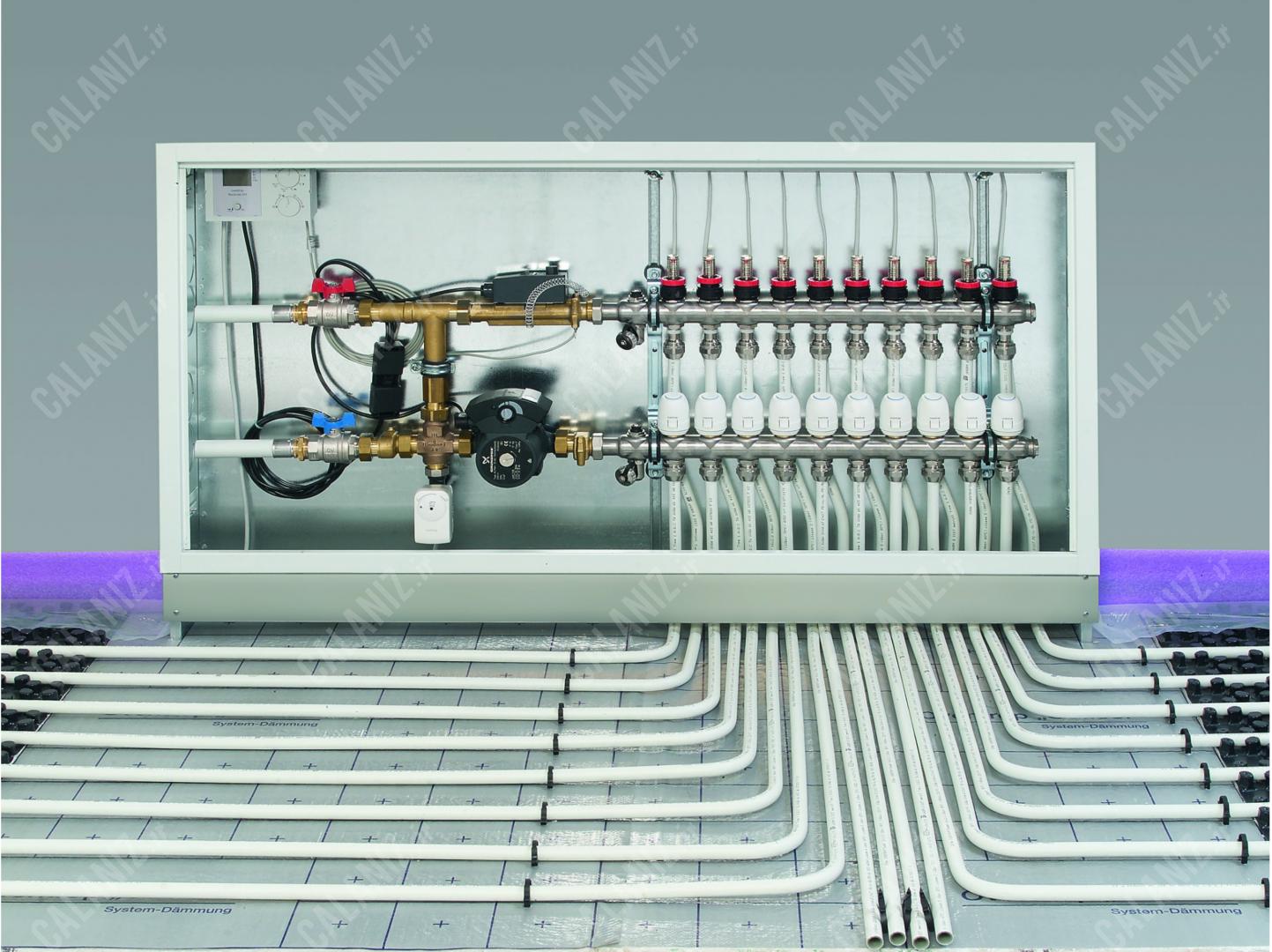 ابعاد جعبه کلکتور های اوون تروپ آلمان oventrop - دفتر فنی مهندسی کالانیز calaniz 2